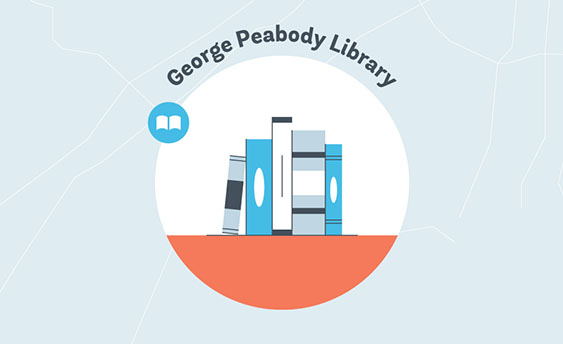 george peabody library graphic