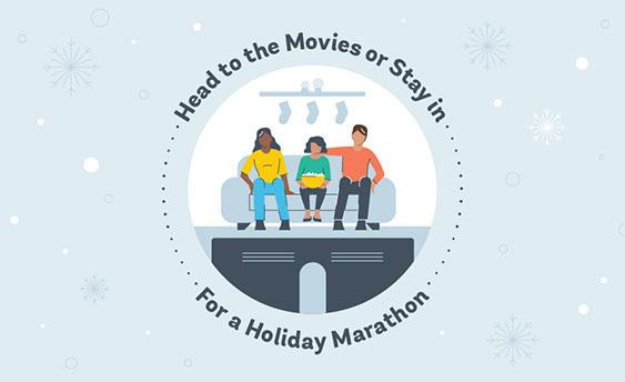 holiday movie marathon graphic