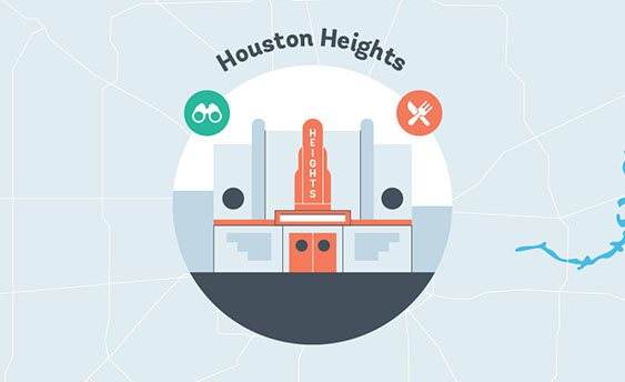 houston heights graphic