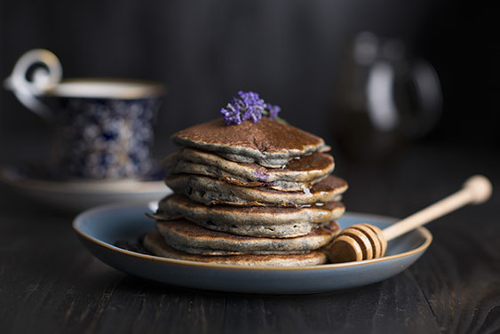 blueberry lavendar ancakes