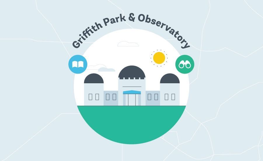 Griffith Park Observatory Graphic