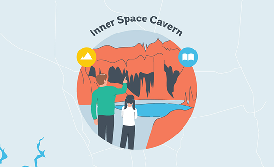 inner space cavern graphic