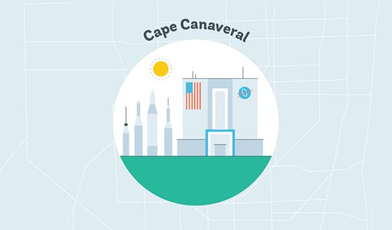 cape canaveral graphic