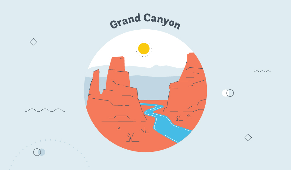 grand canyon graphic