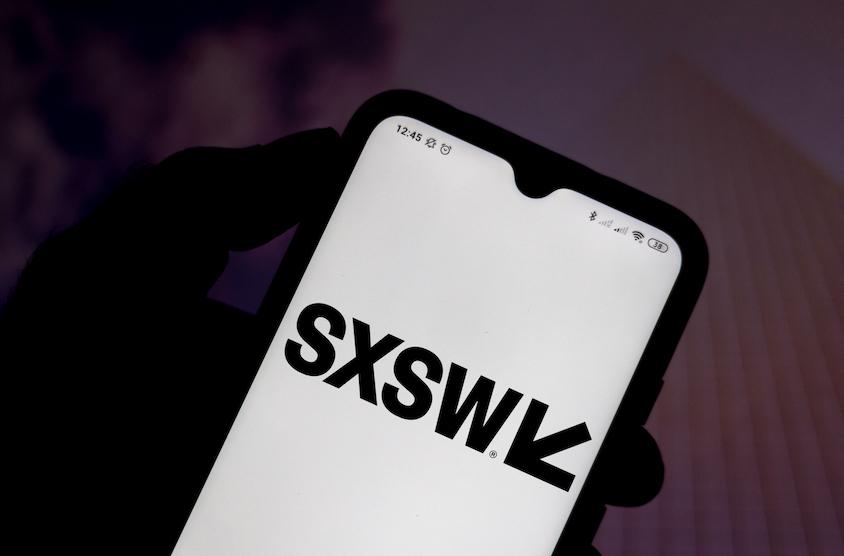 sxsw badge on phone