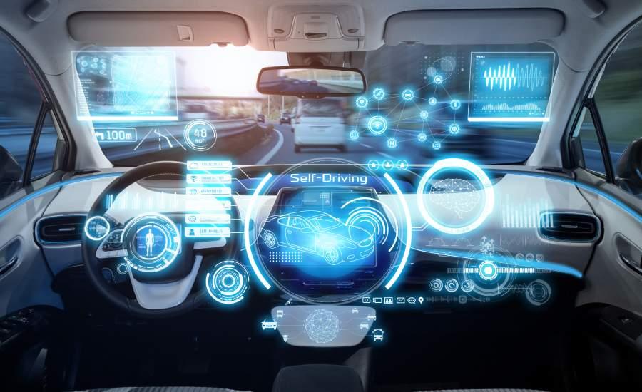 self driving car technology dashboard