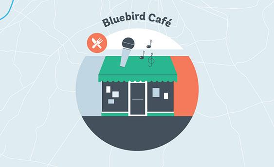 bluebird cafe graphic
