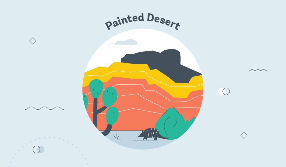 painted desert az graphic