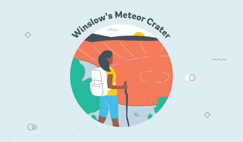 metor crater route