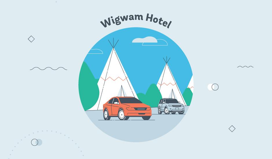 wigwam motel graphic