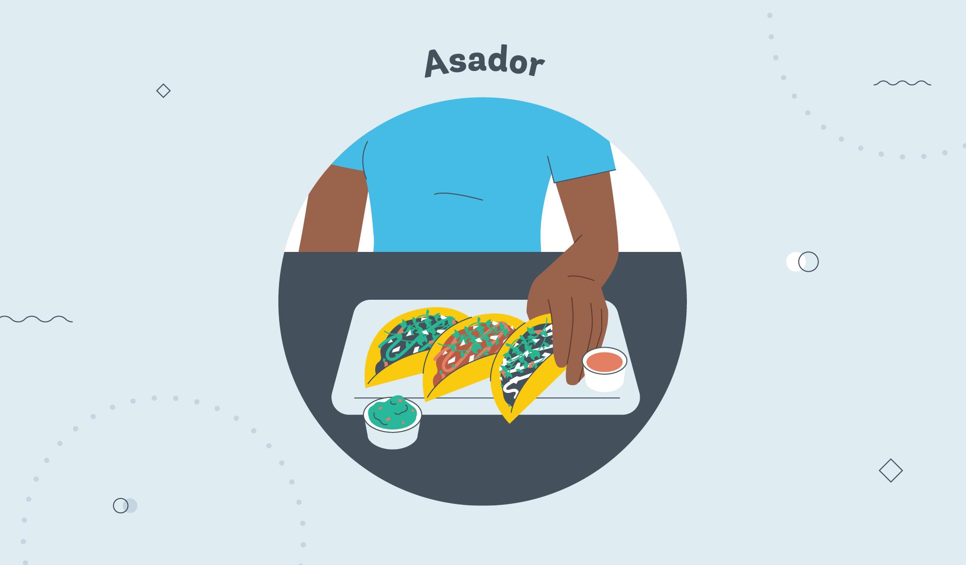 Asador taco graphic