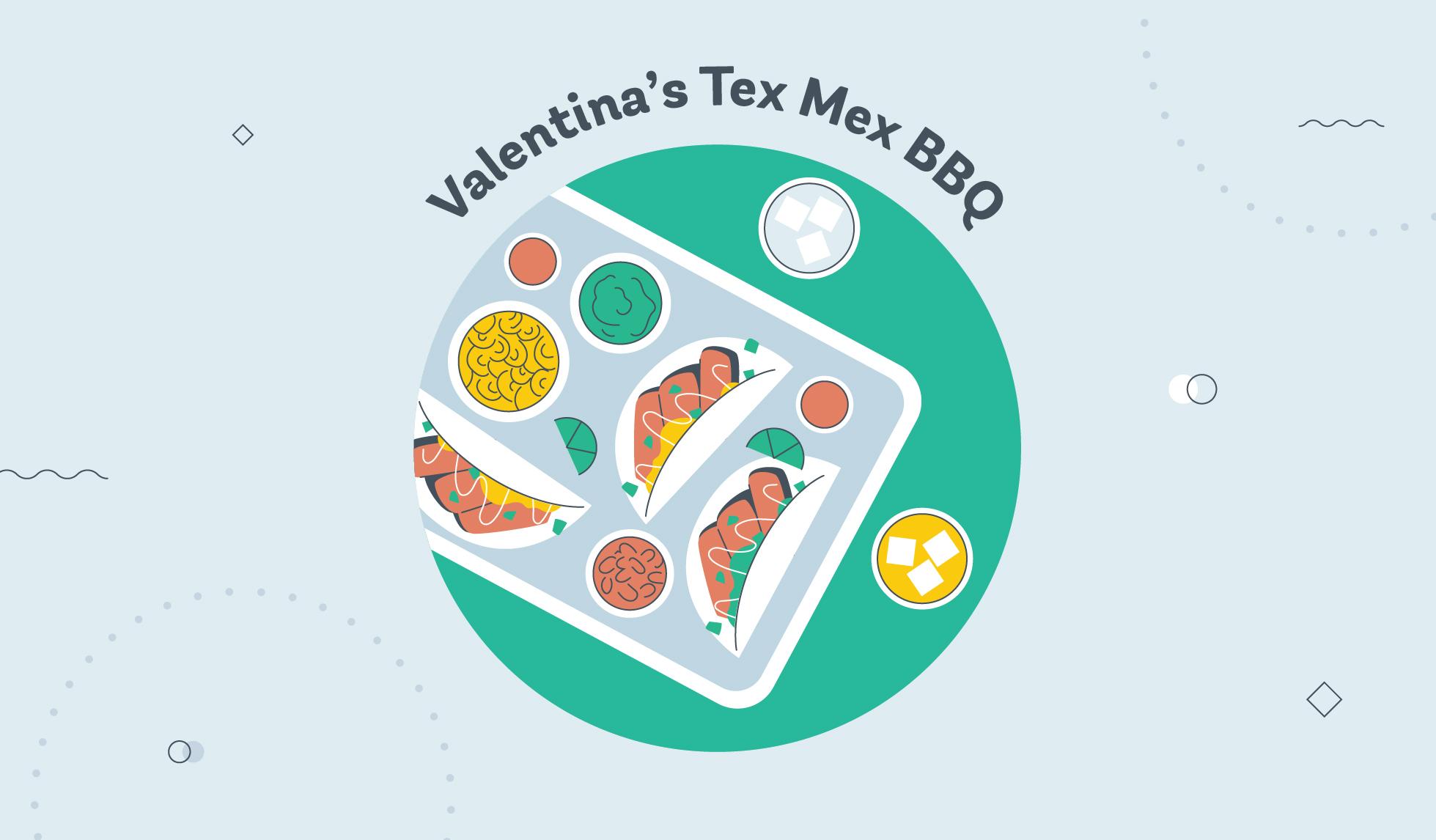 Valentina's Tex Mex BBQ graphic