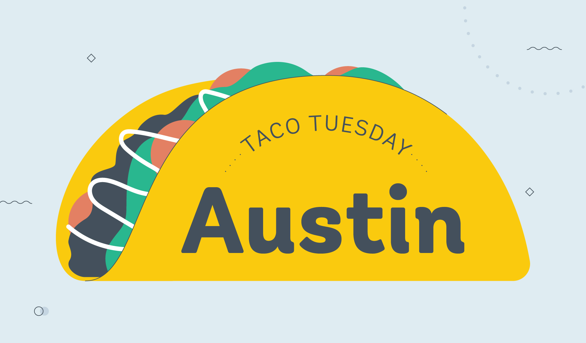 taco tuesday austin graphic