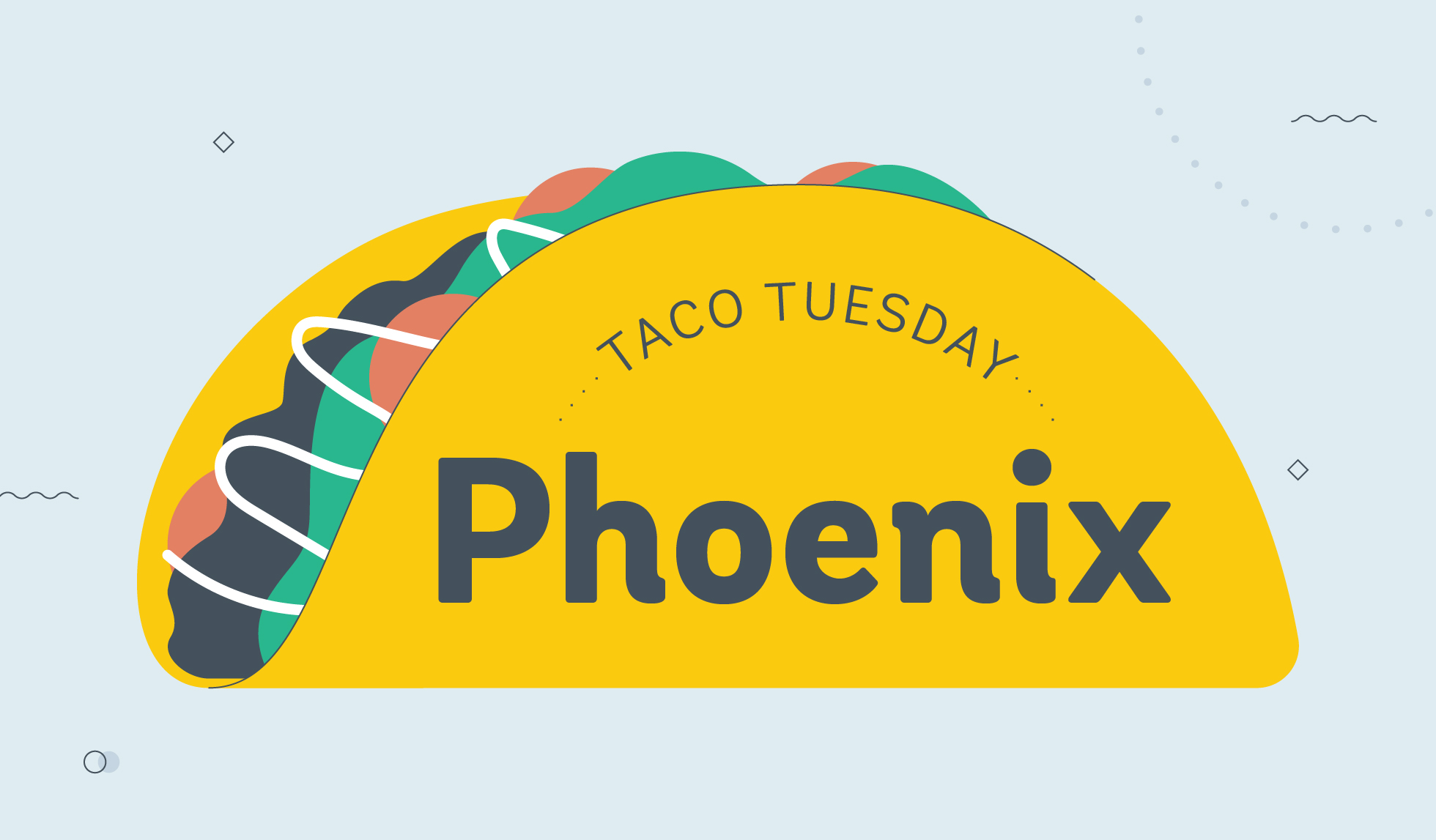 taco tuesday phoenix graphic