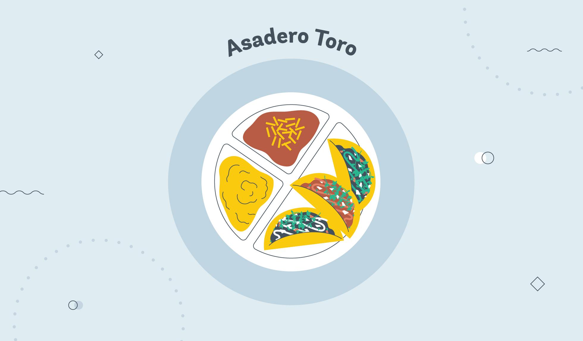 Asadero Toro taco graphic