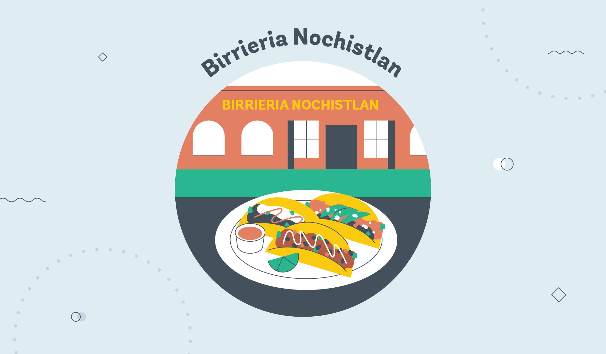 Birrieria Nochistlan taco graphic