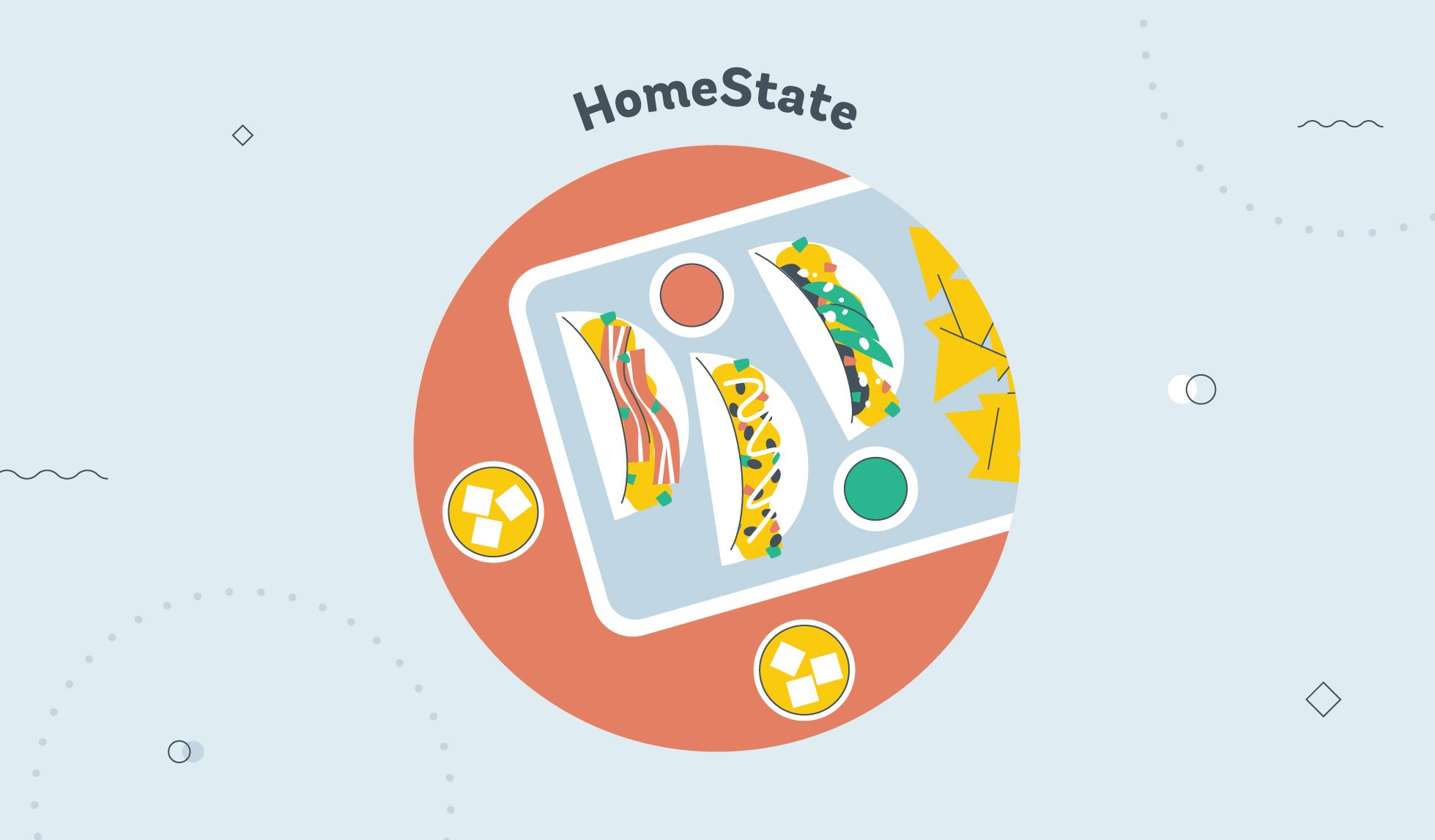 Homestate taco graphic