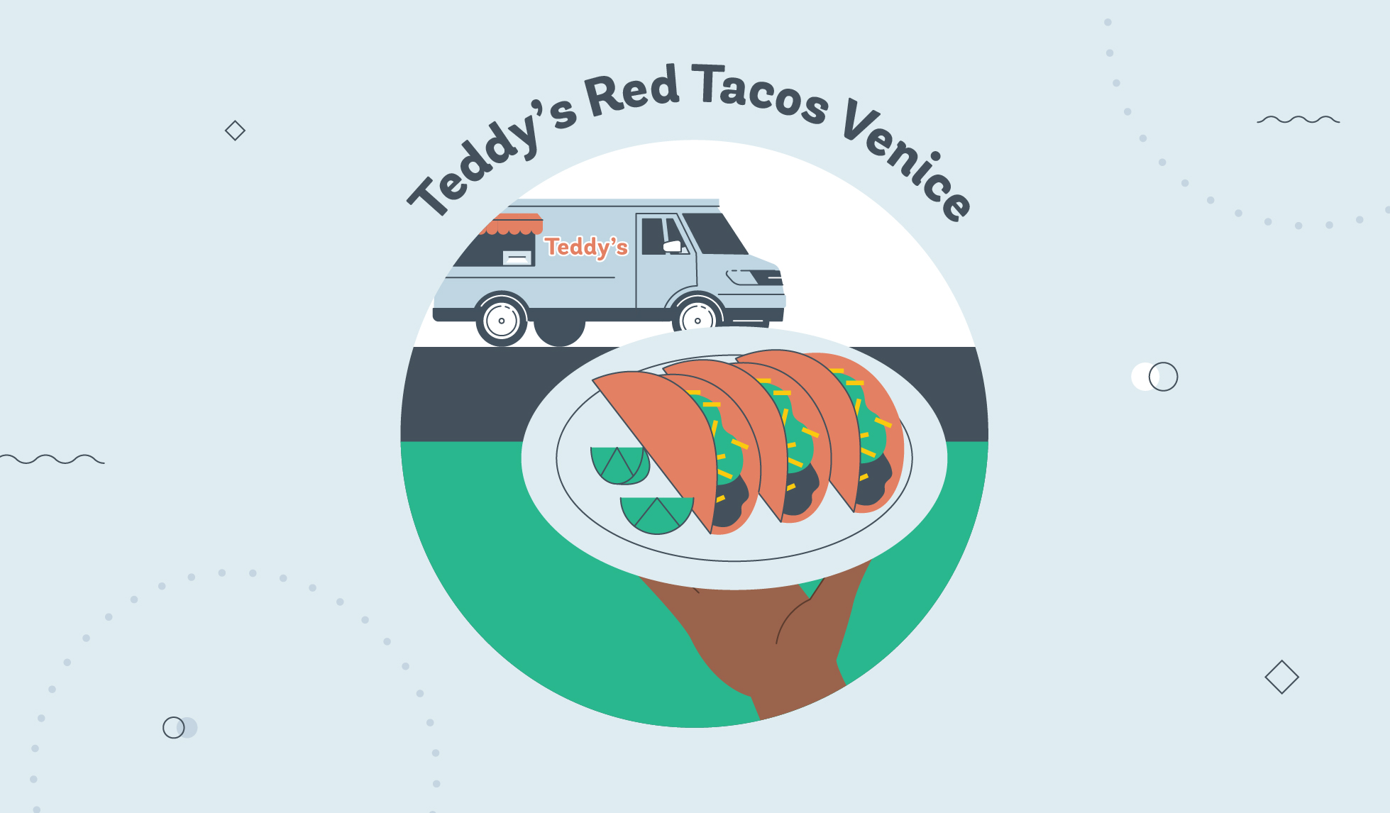 Teddy's Red Tacos Venice graphic
