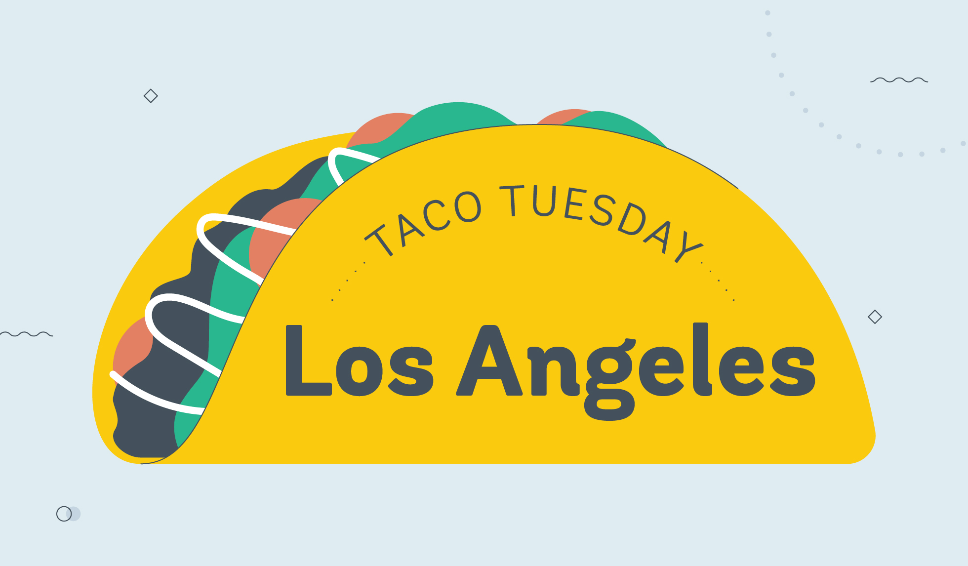 taco tuesday los angeles graphic