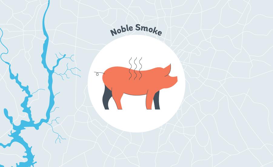Noble Smoke bbq graphic