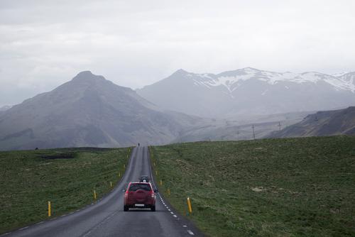 long drive down an empty road