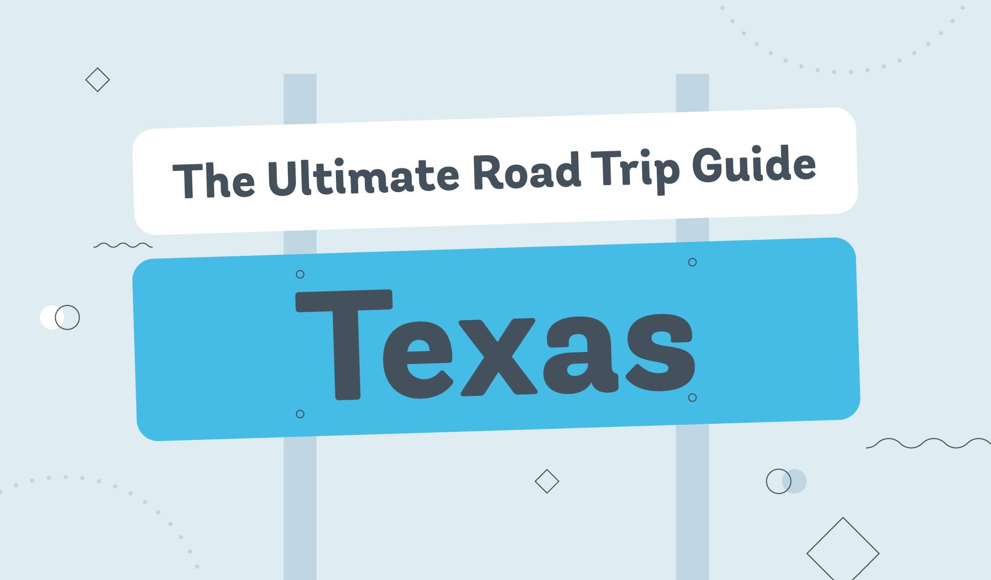 texas road trip graphic