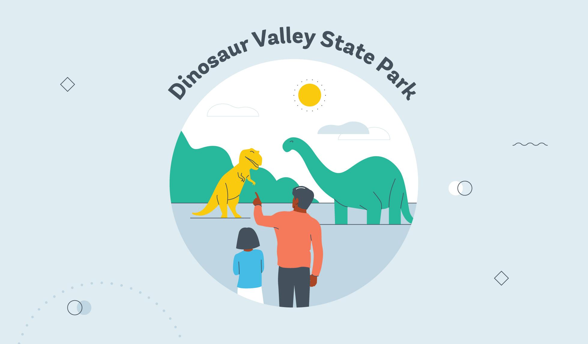 dinosaur valley state park graphic