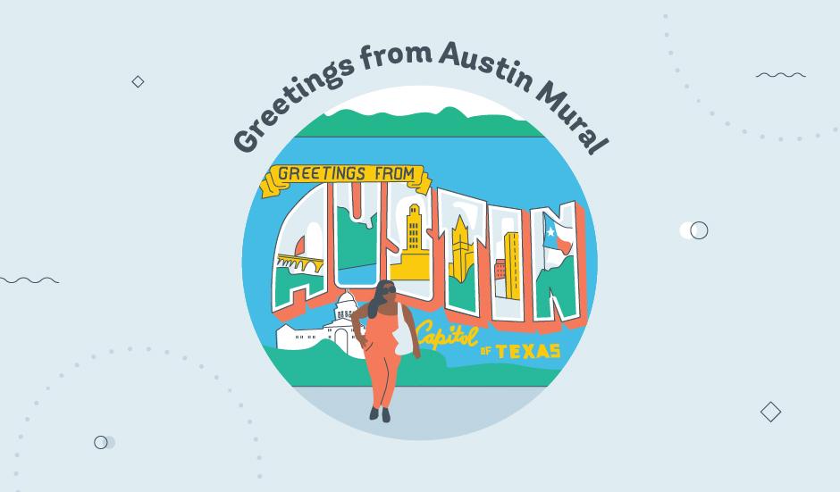 ATX Sculpture/Tau Ceti/Greetings from Austin Mural