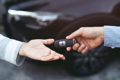 receiving rental car keys