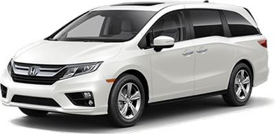 white mini van