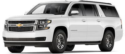 White full size SUV