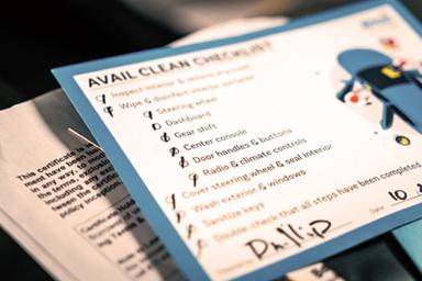 Avail car return checklist