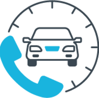Graphic of a phone and a car.