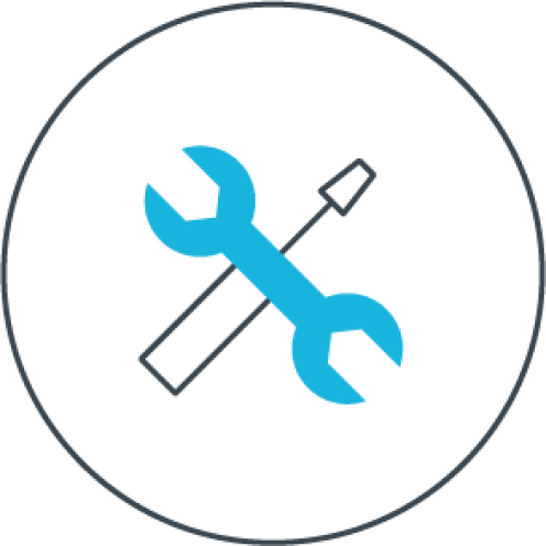 Graphic of a wrench and screwdriver.