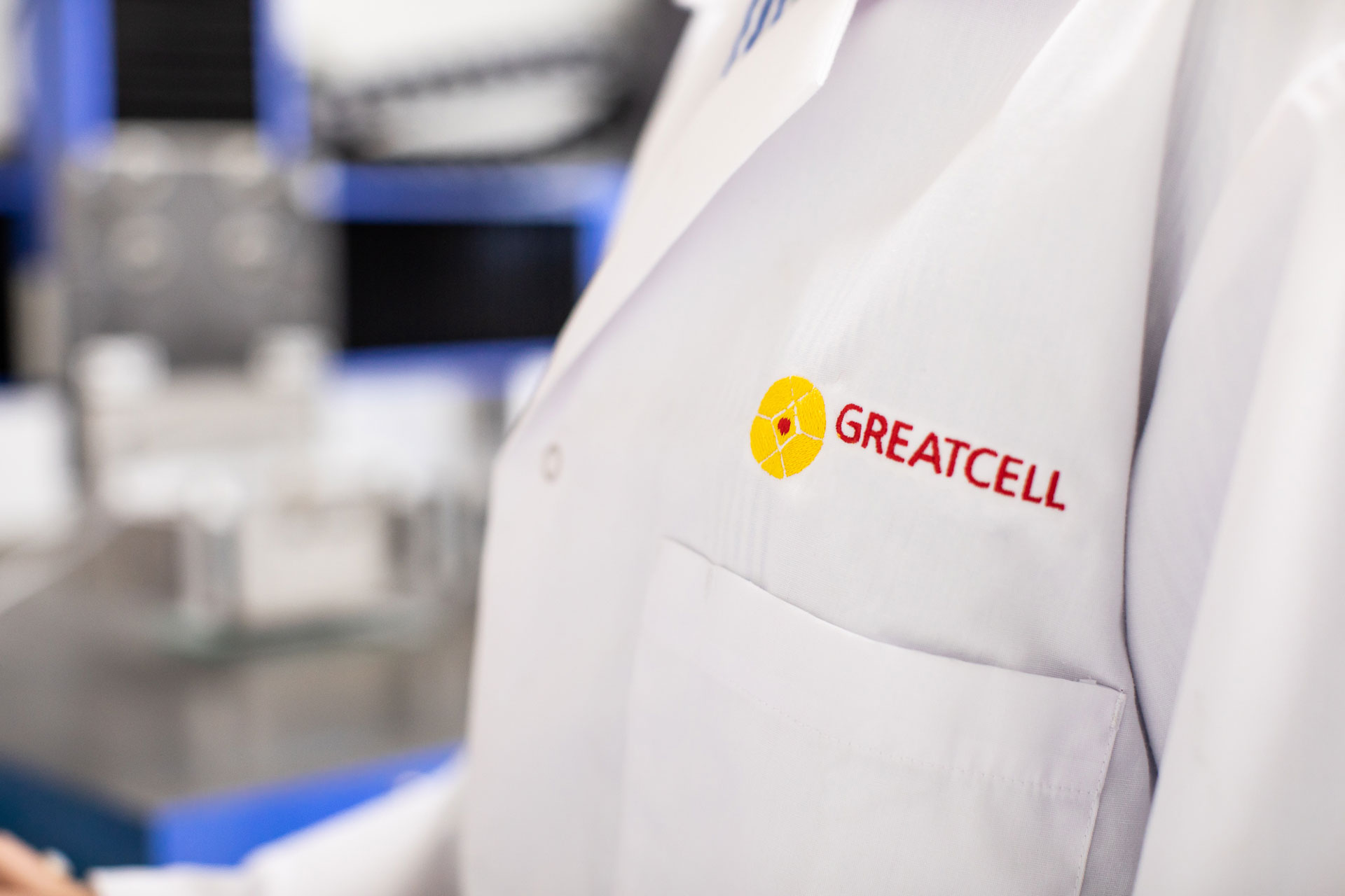 Greatcell Logo on Lab Jacket