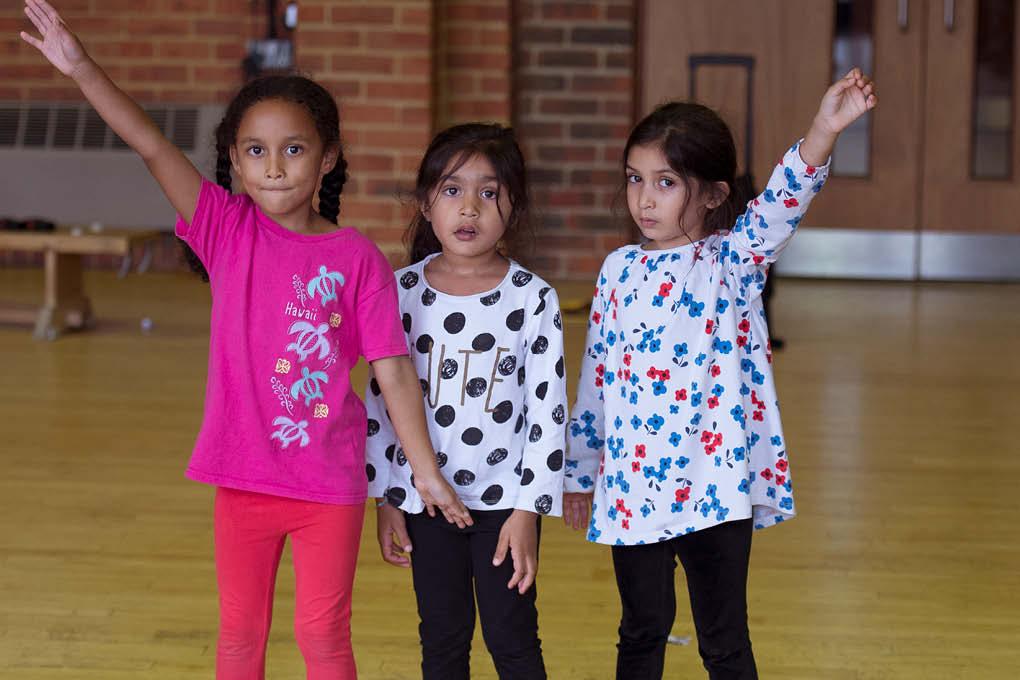 dancing children happy