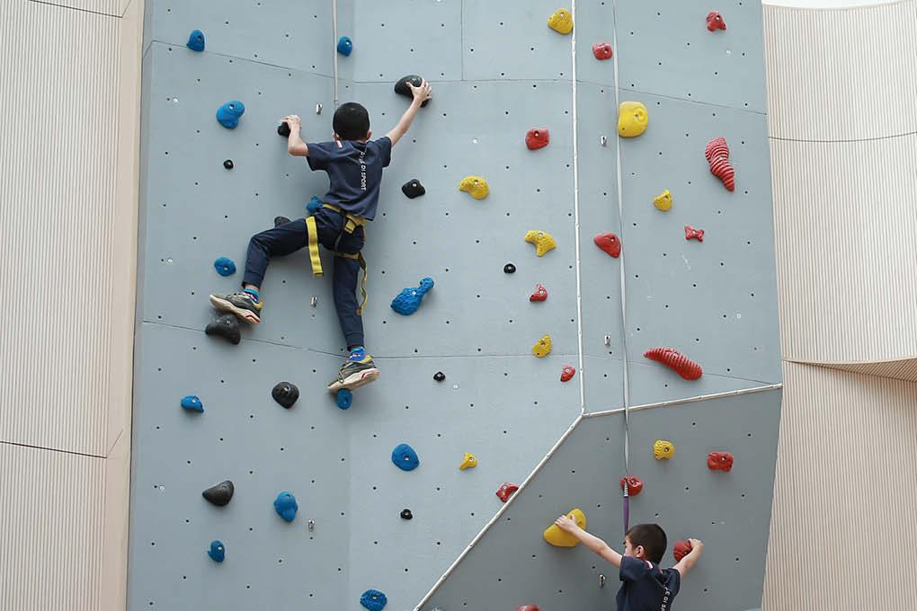 rock climb children