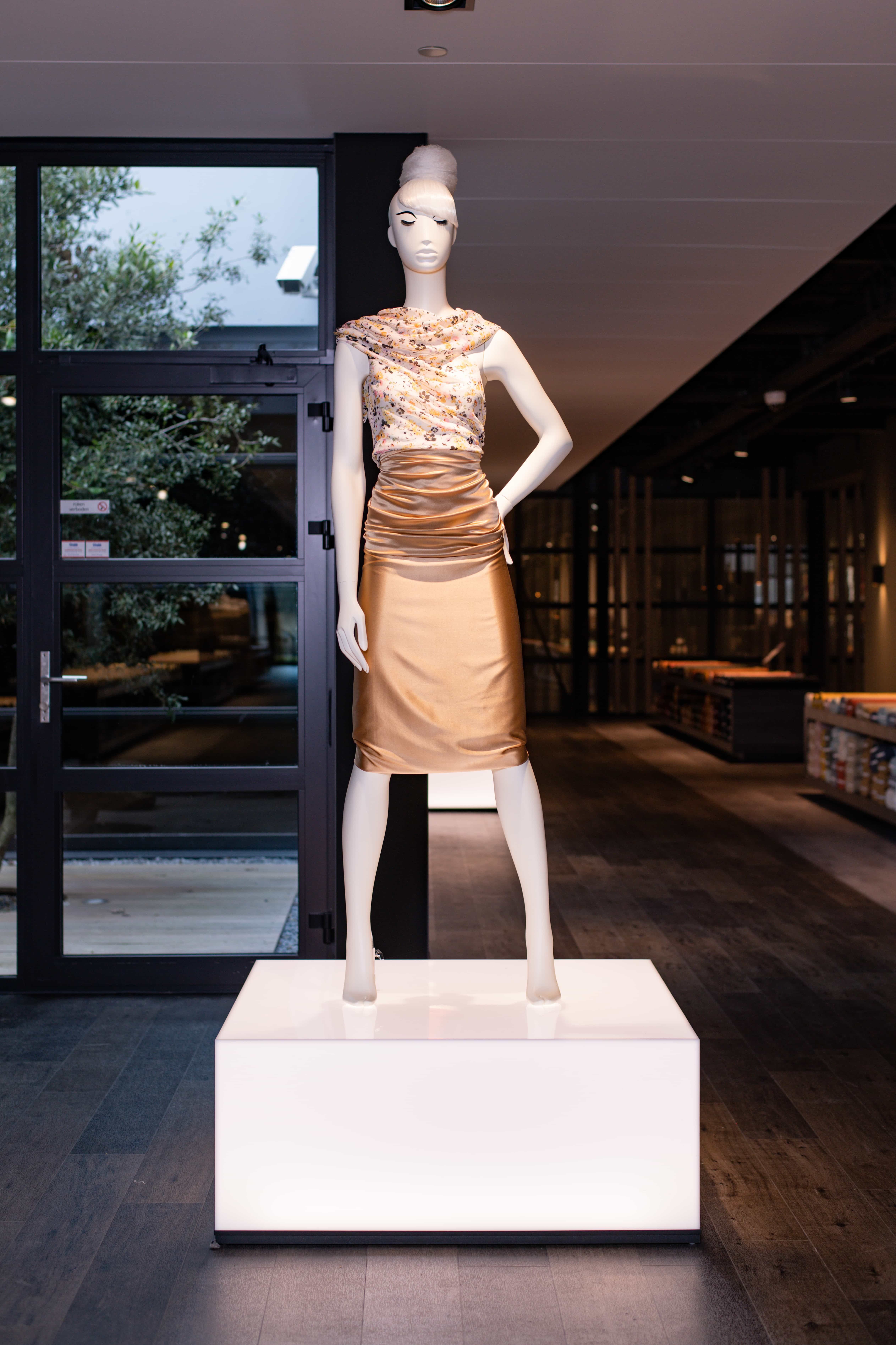 A mannequin standing