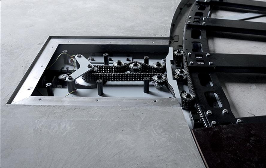 PhotoRobot CAROUSEL - vgrajeno nadstropje - zobniki podrobnosti