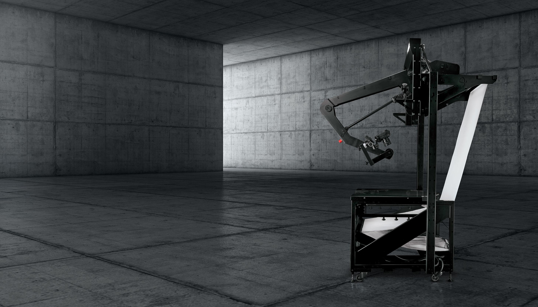 PhotoRobot VARIO installed on photography turntable