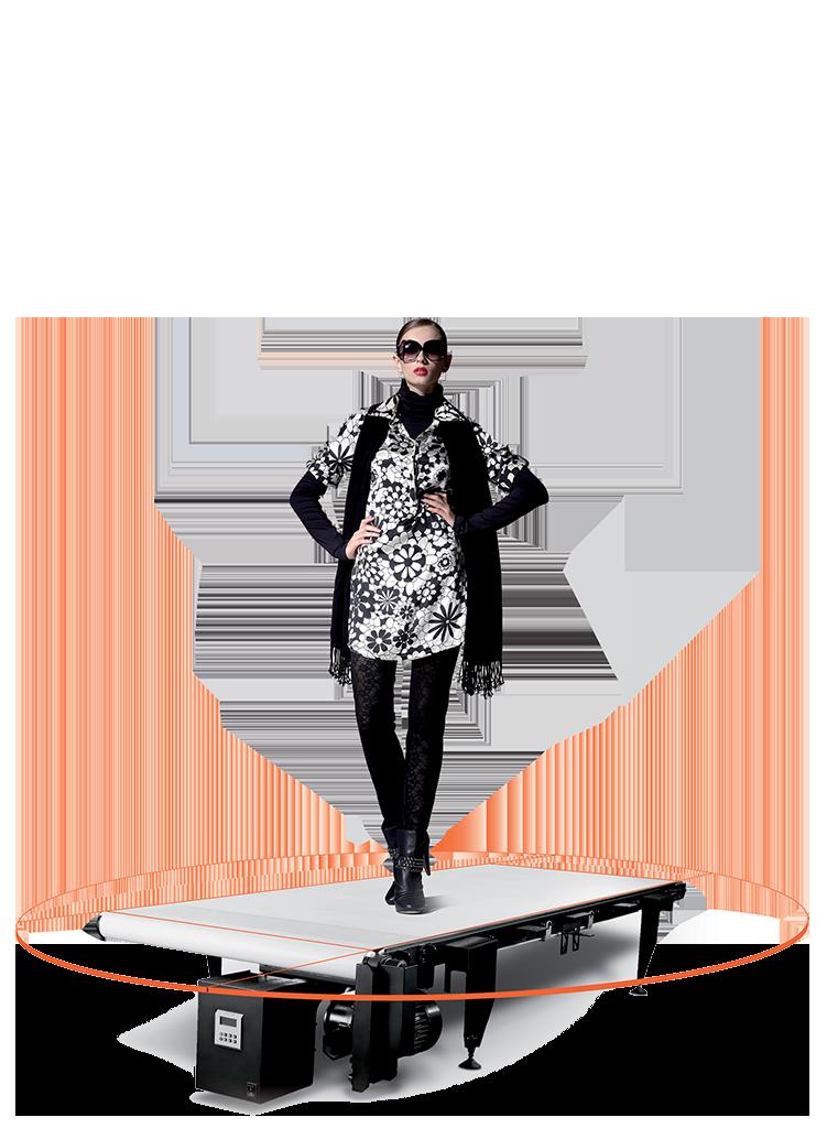 """PhotoRobot Walking Belt - partial view - """"naked"""" machine"""