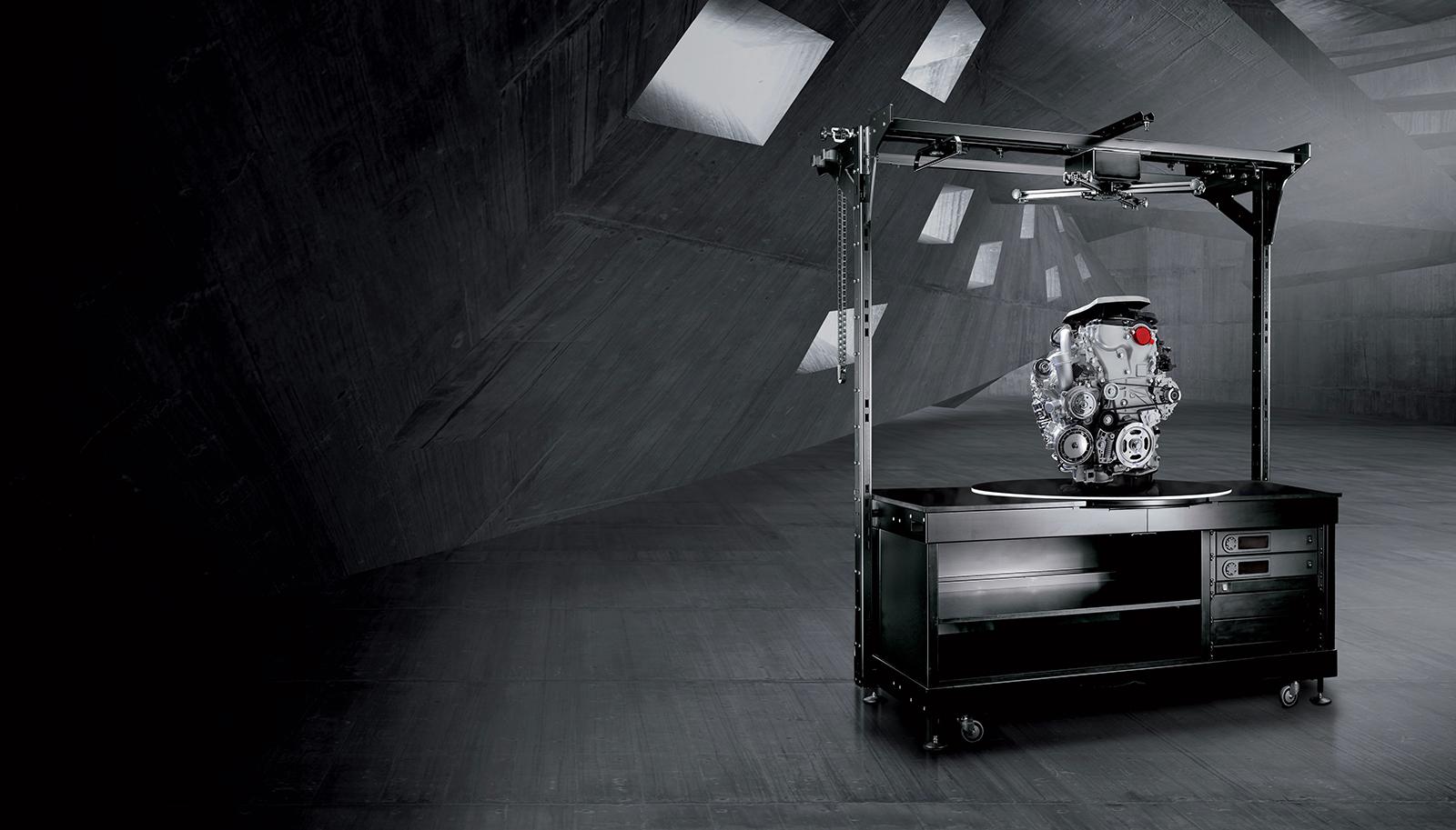 PhotoRobot raskeveokite robootikalaud pildistatud automootoriga