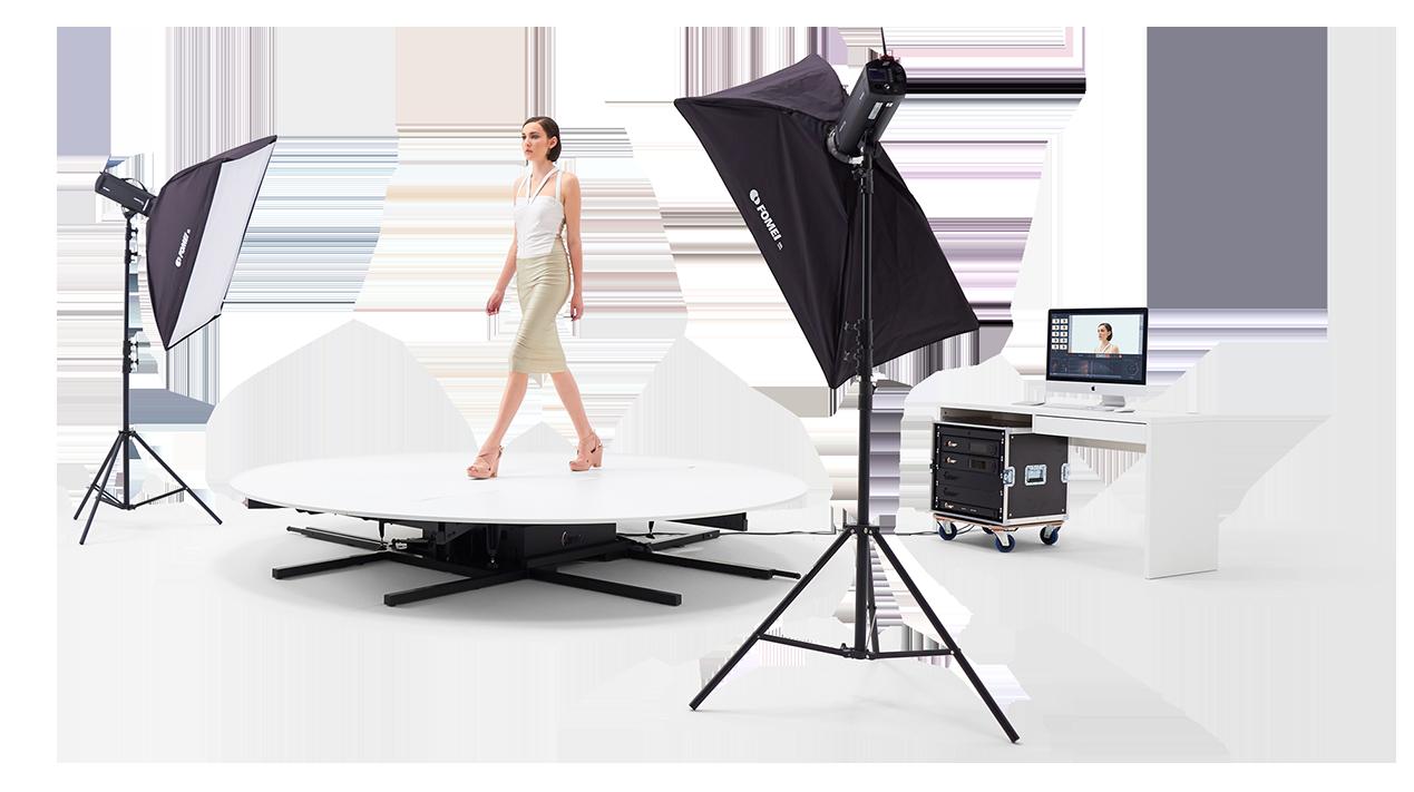 PhotoRobot CATWALK in tegevus stuudio tuled ja _controls tarkvarapakett