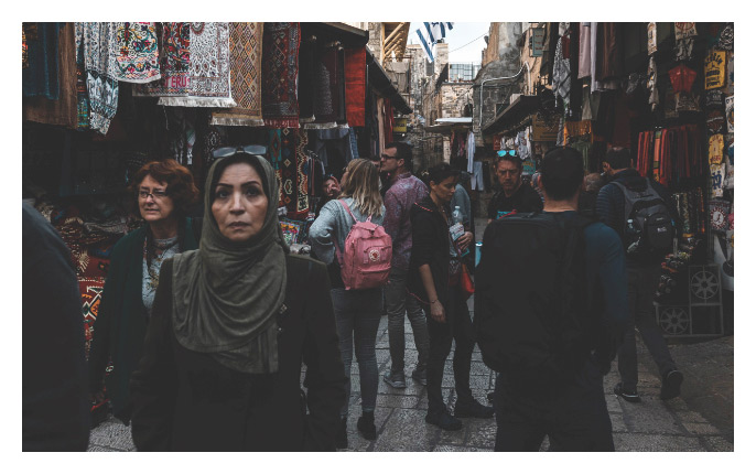 people in crowded street