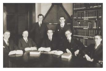 old photo of faculty