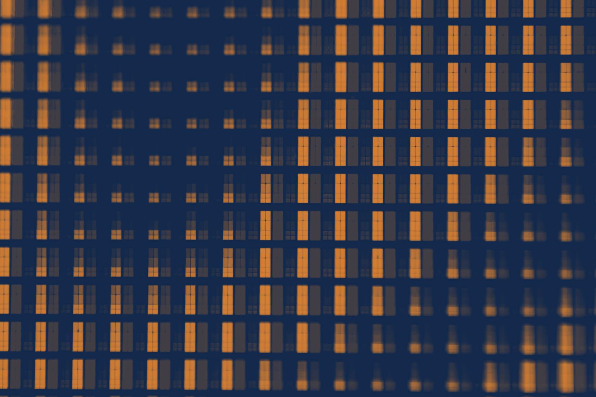 Zoomed in TV screen pixels