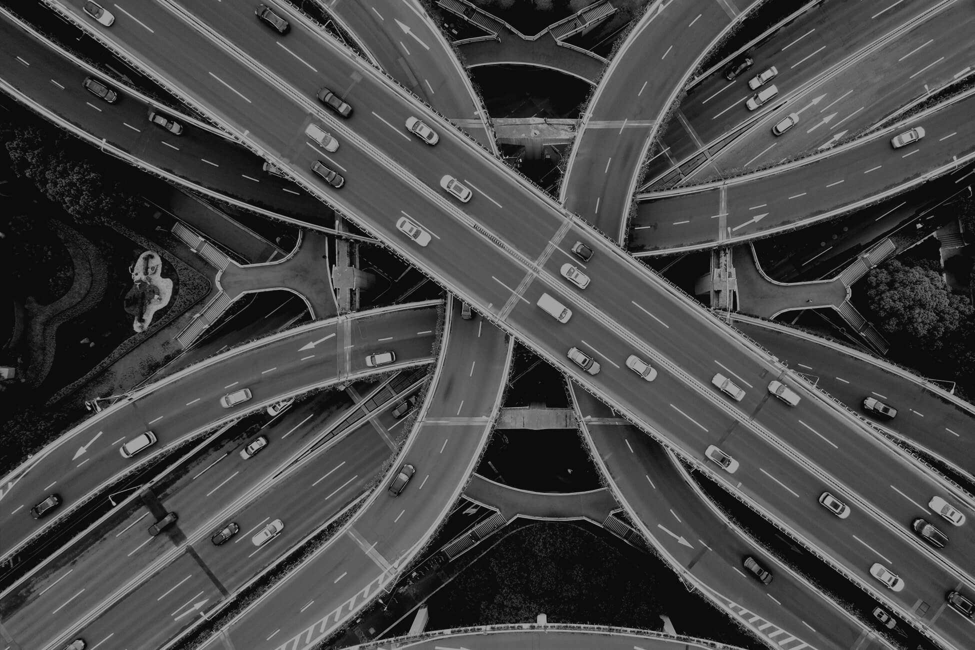 Busy roads overlapping