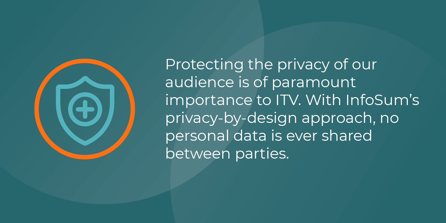 Protecting the privacy of our audience is of paramount importance to ITV. With InfoSum's privacy-by-design approach, no personal data is ever shared between parties.