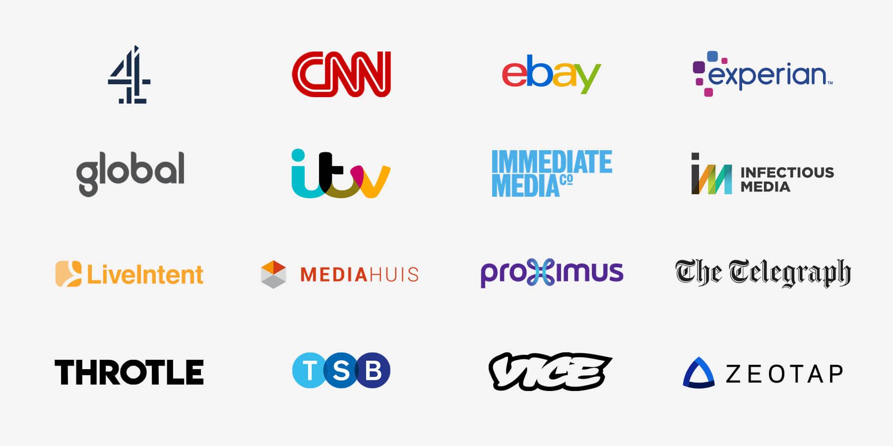 Logos of InfoSum's partners