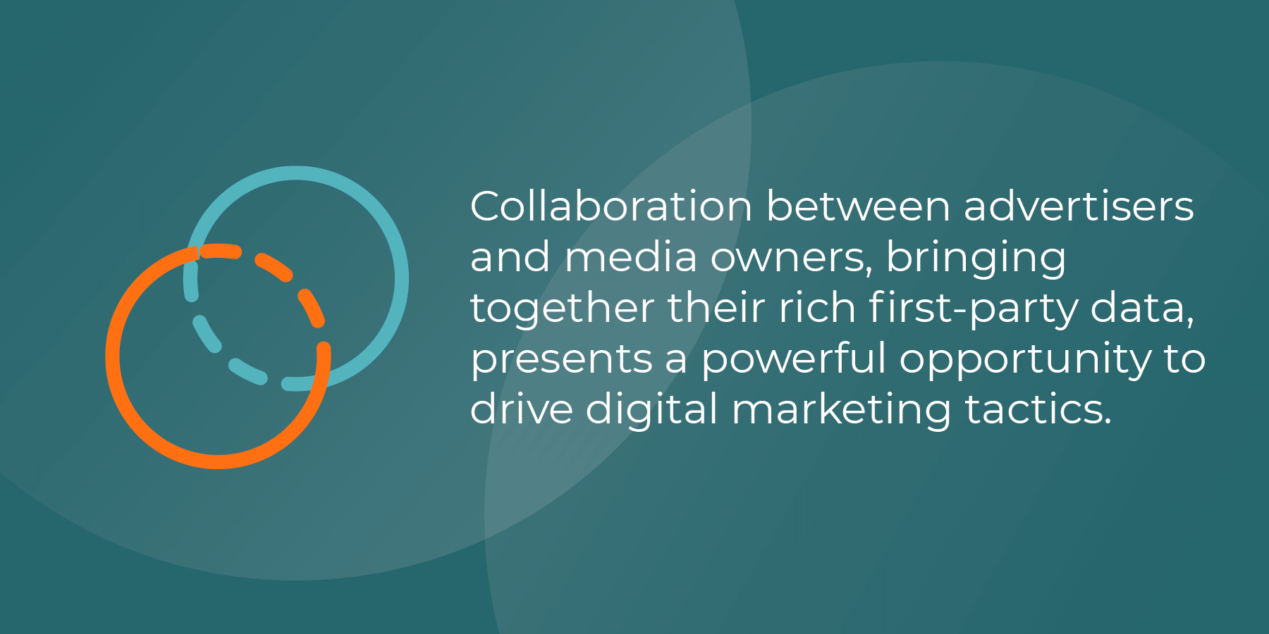 Collaboration between advertisers and media owners, bringing together their rich first-party data, presents a powerful opportunity to drive digital marketing tactics.